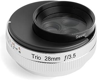 Lensbaby 単焦点レンズ Trio 28 28mm F3.5 マイクロフォーサーズマウント Sweet/Velvet/twist切替式 マニュアルフォーカス シルバー