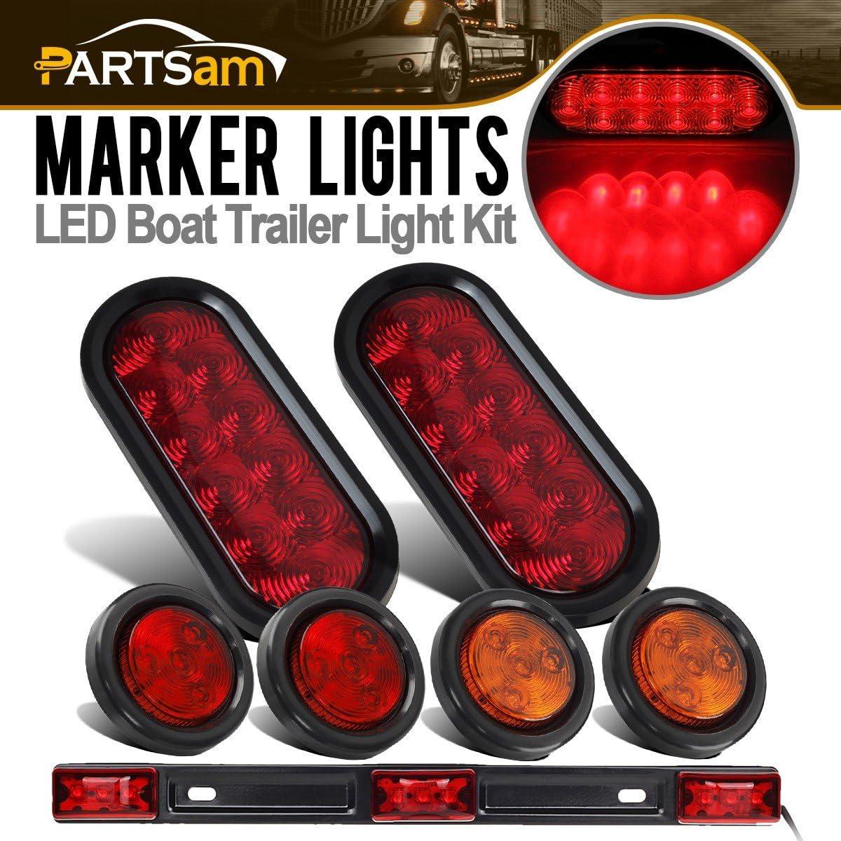 Partsam Ranking TOP7 12v LED Truck Trailer Light Re 6
