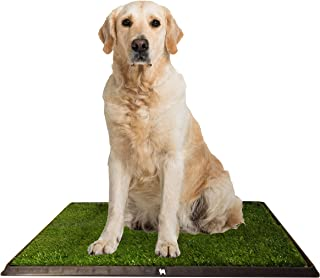 Puppy Potty Grass Toilet Trainer Tray for Dogs and Puppies. Training Grass Pee Pad for Indoor, Outdoor Use, Porches, Apartments and Houses Grass Turf Mat