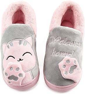 Vunavueya Zapatillas de Estar por Casa para Unisex Niños y Adulto Niño Niña Zapatos Pantuflas Invierno Mujer Hombre Interi...