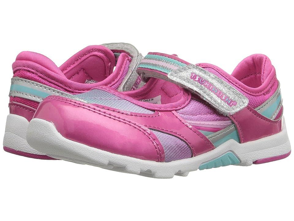 Tsukihoshi Kids Glamour (Toddler/Little Kid) (Fuchsia/Mint) Girls Shoes
