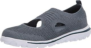 Propét Women's TravelActiv Avid Sneaker, Denim,10 Wide