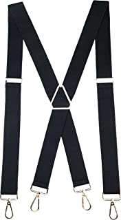 Romanlin Mens Suspenders with Swivel Hooks on Belts Loops Heavy Duty Big and Tall Adjustable Braces