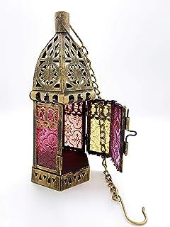 Willsea Arabic Ramadan Eid Mubarak Candle Holder Lantern for Table, Home Patio Decor, Villa, Wedding, both Decorative for ...