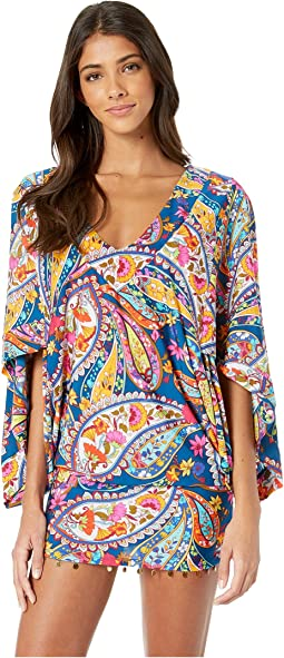 Moroccan Paisley Tunic Cover-Up