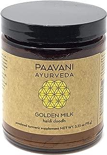 PAAVANI Ayurveda Golden Milk - Organic Turmeric and Ashwagandha Blend, 38 Servings