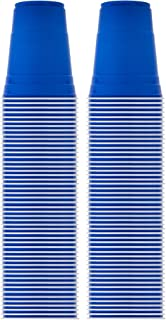 Solo Blue Cup Cold Plastic Party Cups, Round Style, 16 Ounce, 100 Pack