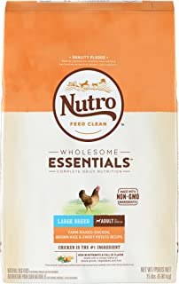 NUTRO WHOLESOME ESSENTIALS Large Breed Adult & Senior Dry Dog Food, Chicken
