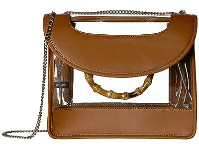 Loeffler Randall Marla Square Bag with Chain (Cognac/Clear) Handbags