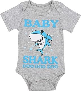b1cac8b1 Baby Boy Clothes Baby Shark Doo Doo Doo Print Summer Cotton Sleeveless  Outfits Set Tops +