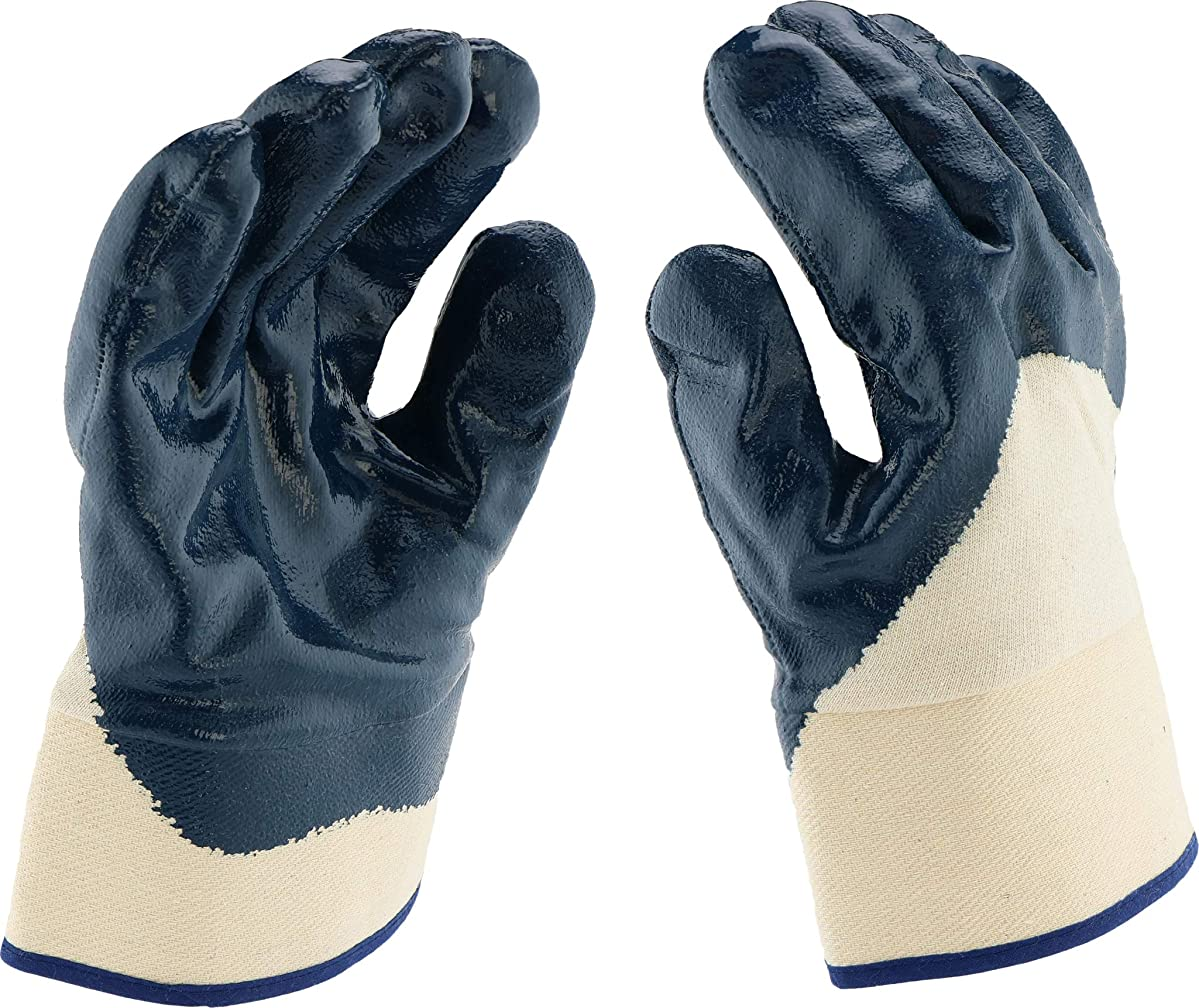 West Chester 4550/XL Safety Cuff Nitrile Palm Coated Jersey Lined Dozen