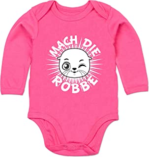 Shirtracer Strampler Motive - Mach die Robbe - Baby Body Langarm