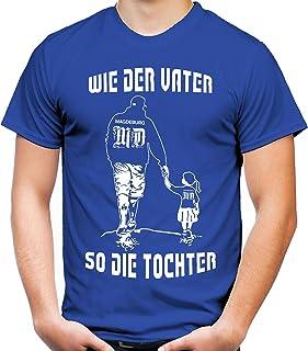 uglyshirt89 Wie der Vater so die Tochter Männer und Herren T-Shirt | Sport Fussball Geschenk | Magdeburg