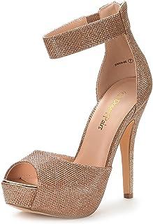 DREAM PAIRS Women's Swan-05 High Heel Plaform Dress Pump Shoes