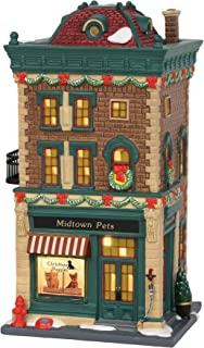 Department 56 Christmas in The City Collectible Building Midtown Pets