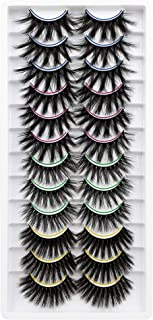مژه مژه مصنوعی PLEELL 12 جفت 4 مدل مژه مژه کوچک حجم دار کرکی ترکیبی سه بعدی مژه مژه مصنوعی