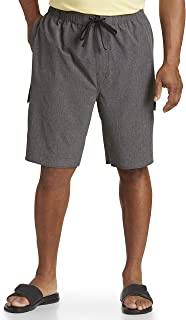 Harbor Bay by DXL Big and Tall 4-Way Stretch Solid Swim Trunks