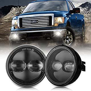 Lusgwufad 4.5 4-1/2 Round LED Fog light Compatible with Ford F150 F-150 2011-2014 Ranger 2008-2011 Expedition 2007-2014