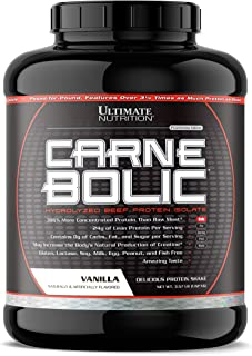Ultimate Nutrition Carnebolic Zero Carb Paleo Protein Isolate Powder - Lactose Free Protein for Carnivores and Keto Diets - Great Tasting, Gluten Free, Vanilla, 60 Servings
