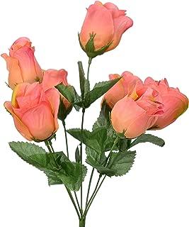 David Chrostopher Collection Rose Bud Bush 7 Flowers one Bush (Confetti)