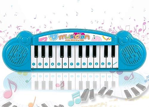 Popsugar THPI6614AB Mini Musical Keyboard with 24 Keys for Kids Blue