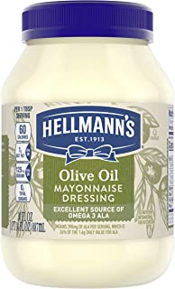 Hellmann's Mayonnaise Dressing Condiment for Simple Meals and Sandwiches with Olive Oil Mayo Rich in Omega 3-ALA 30 oz