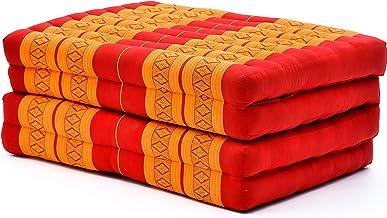 Leewadee Trifold Matras Standaard - Comfortabele Thaise Massage Pad, opvouwbare vloer matras gevuld met Eco-vriendelijk Ka...