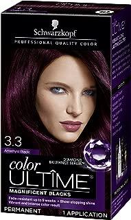 Schwarzkopf Color Ultime Hair Color Cream, 3.3 Amethyst Black (Packaging May Vary)