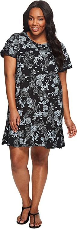 Extra Fresh by Fresh Produce - Plus Size White Sands Reef Dress