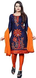 Ethnicset- Women's Dress Material (Blue)