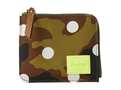 Herschel Supply Co. Jack RFID (Woodland Camo White Dot) Wallet Handbags
