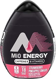 MiO Energy Strawberry Pineapple Smash Liquid Water Enhancer, Caffeinated, 1.62 fl oz Bottle