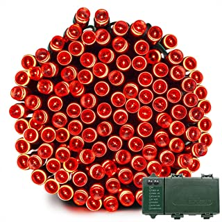Vmanoo Christmas Lights, Battery 72ft 200 LED, String Lights for Outdoor, Indoor, Garden, Patio, Holiday Christmas Party Wedding Xmas Decorations (Red)