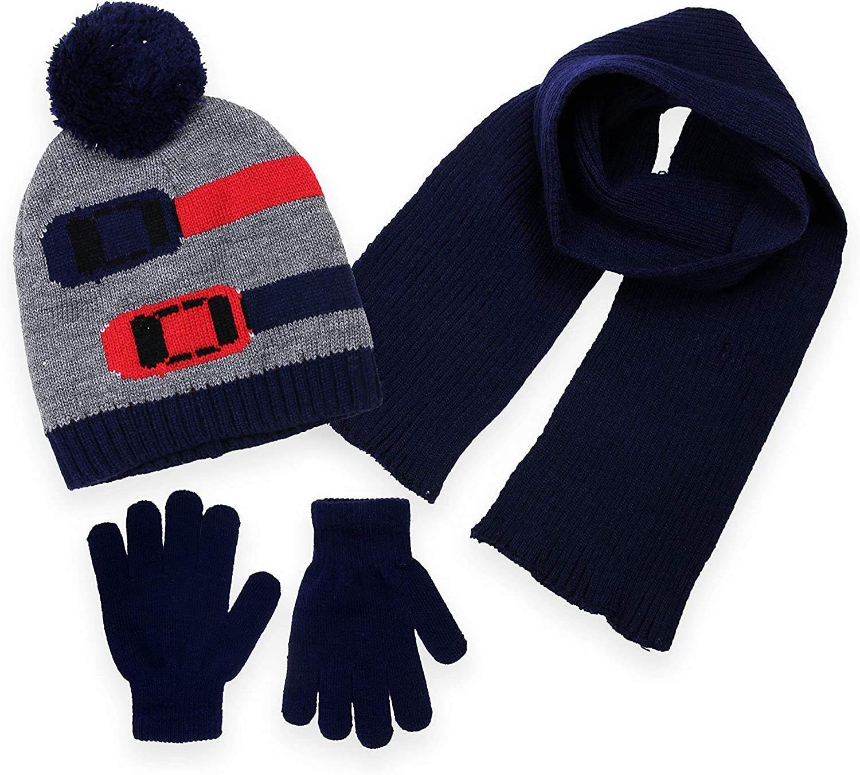 Minus 5° by Polar Wear Boys Winter Beanie Hat, Scarf and Glove Set (3 Piece Set)