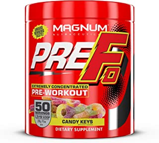 Magnum Nutraceuticals PRE FO Workout Powder (50 Servings) Candy Keys