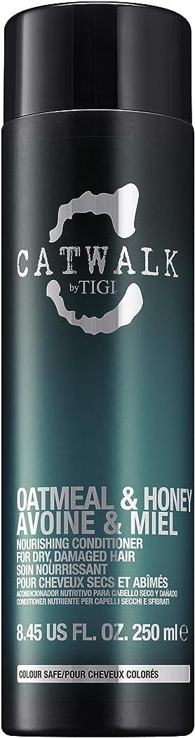 ビジュアル味わう荒らすティジー Catwalk Oatmeal & Honey Nourishing Conditioner (For Dry, Damaged Hair) 250ml [海外直送品]