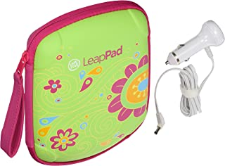 Leapfrog Leappad Accessories On-the-go Bundle. Flower Carrying Case, Car Adapter & $15 Digital Download Card