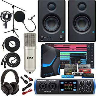 "PreSonus Studio 26c 2x4,192 kHz USB Audio/MIDI Interface with Studio One 5 Artist Software Pack w/Eris 3.5 BT Pair Studio Bluetooth Monitors and 1/4"" Instrument Cable"