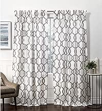 Exclusive Home Curtains Kochi HT Curtain Panel, 54x108, Black Pearl
