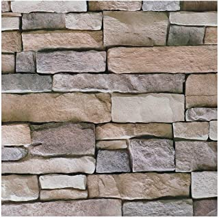 Livelynine 3D Brick Wallpaper Peel and Stick Backsplash for Kitchen Wall Decorations Airstone Wall Paper Decorations Stone Veneer Brick Wall Panels Adhesive Vinyl Roll 17.7x78.8 Inch