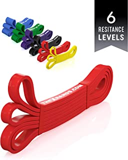 "The x Bands Extra Strong Exercise Long Resistance Bands 41"" Heavy Duty Rubber Loops for Fitness, Assisted Pull-Ups, Extreme Workout, Powerlifting, Crossfit Equipment - 1 Band or Set of 5"