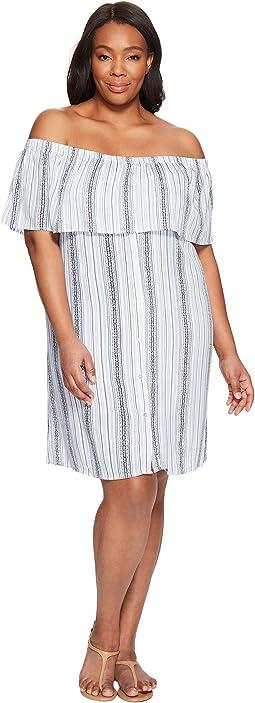 Plus Size Rosie Off Shoulder Flounce Dress