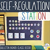 Self-Regulation Bulletin Board - School Counseling Class Decor and Check-In