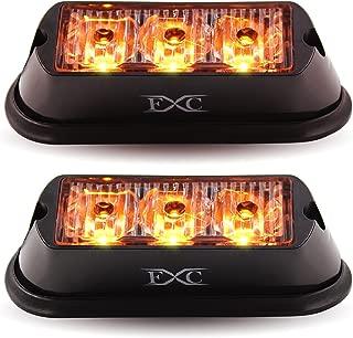 (2PCS) 3-LED Strobe Light Amber Waterproof Emergency Beacon Flash Lights,Purishion Caution Bar 12 Different Flashing Car SUV Pickup Truck Van¡