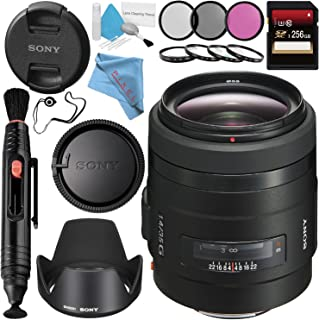 Sony 35mm f/1.4 G Lens SAL35F14G + 55mm 3 Piece Filter Kit + 55mm Macro Close Up Kit + 256GB SDXC Card + Lens Pen Cleaner + Fibercloth + Lens Capkeeper + Deluxe Cleaning Kit Bundle