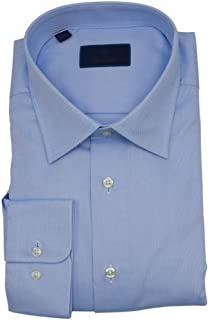 David Donahue Trim Fit Dobby Weave French Cuff Formal Shirt