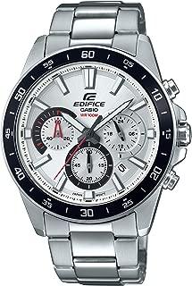 Casio Men's Edifice Quartz Watch with Stainless-Steel Strap, Silver, 21.6 (Model: EFV-570D-7AVUDF)