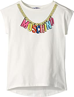 Moschino Kids - Short Sleeve Logo Necklace Graphic T-Shirt (Big Kids)