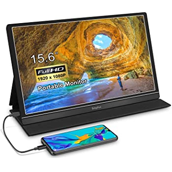 Portable Monitor 15.6'' Gaming Display Second Screen - 1080P IPS Computer Gaming Monitor, with HDMI USB C Port for PC Laptop PC Phone MacBook PS4 Xbox Nintendo Raspberry pi
