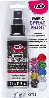 Tulip Glitter Fabric Spray Paint, Black Diamond